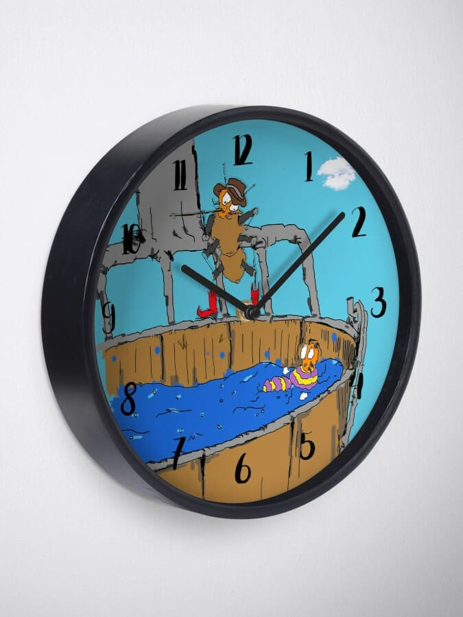 Berl-Hives-Dont-Bug-Me-Ive-Got-Hay-to-Bale-clock