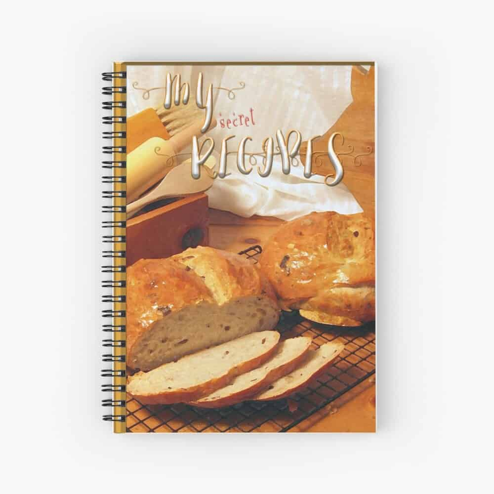 Bread-theme-spiral-notebook