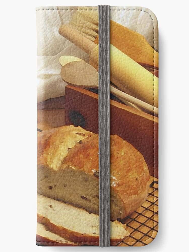 Bread themed iphone wallet photgraphy by Kraven Cache