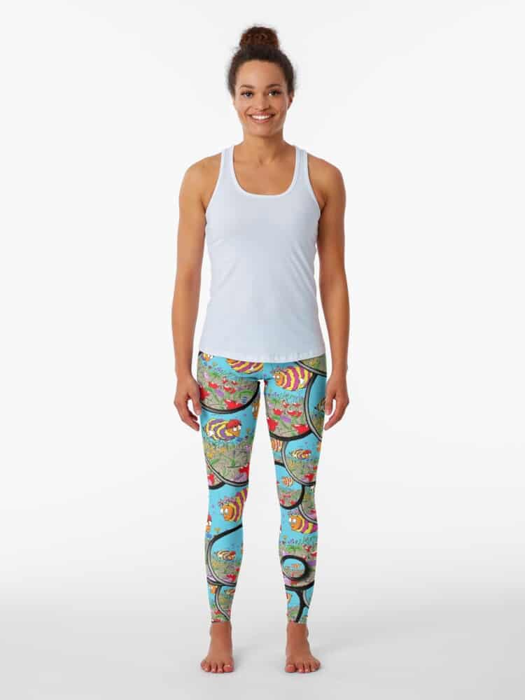 Colorful Berl Hives Berl and Melissa inspired leggings