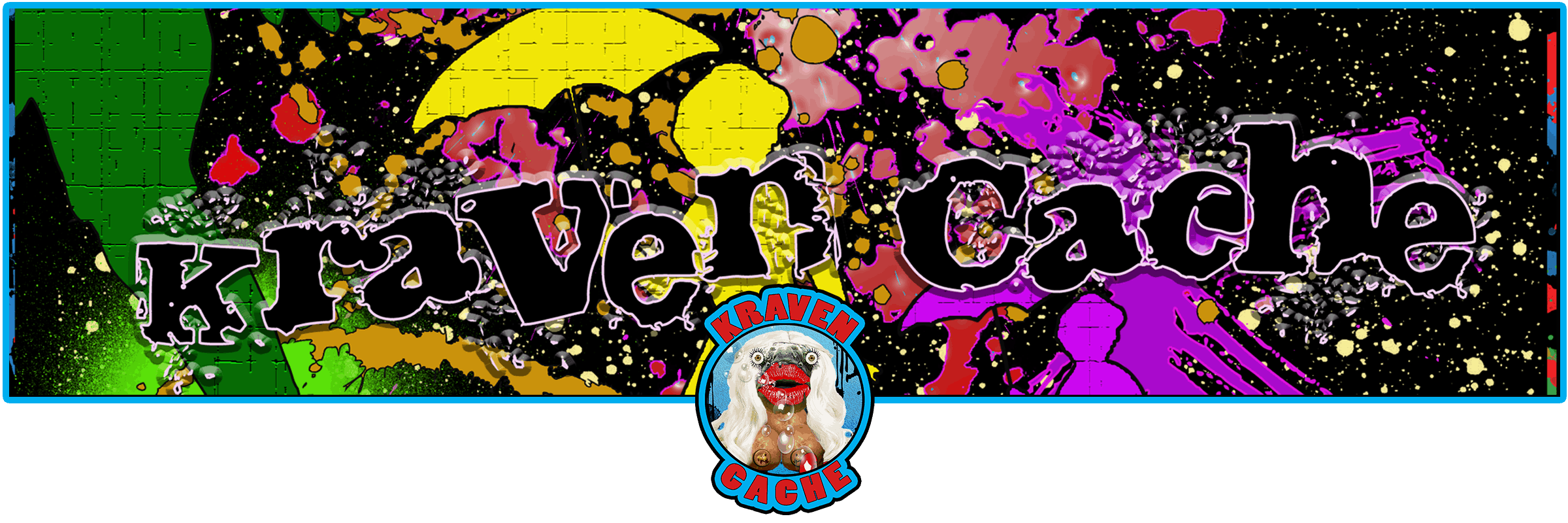 Kraven Cache website header