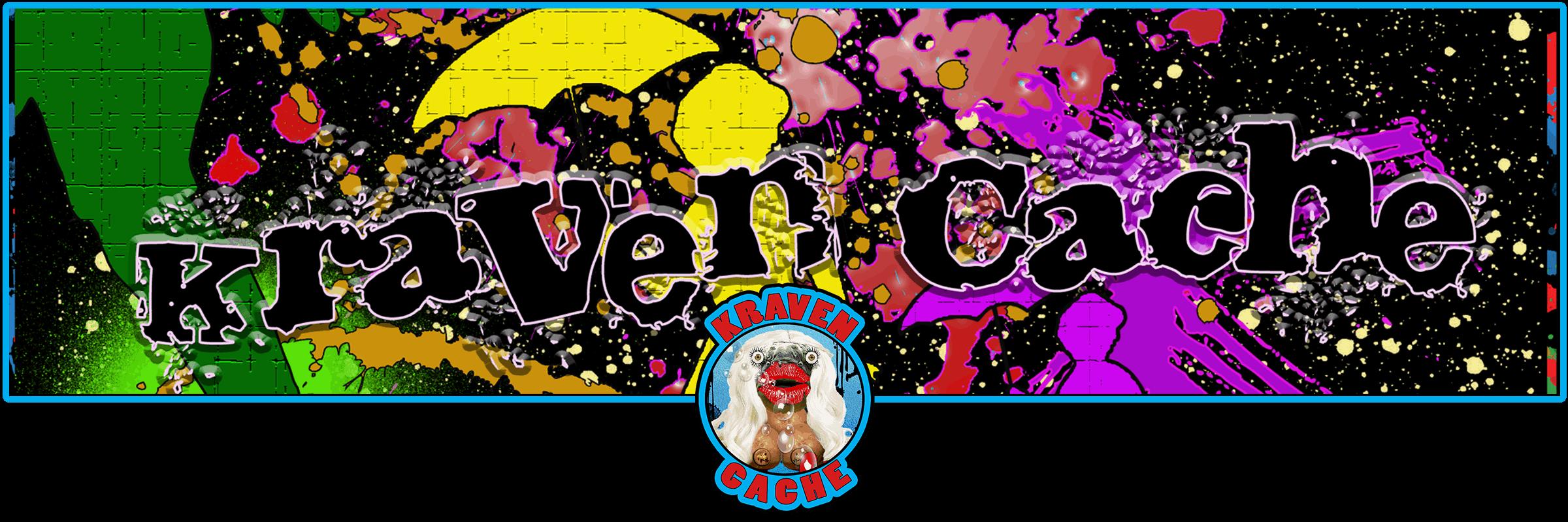 Kraven Cache website header